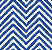 Vector Chevron Navy Blue Seamless Pattern. Painted background, zigzag brush strokes composition. Vector chevron pattern for fabric print, textile design, fashion clothes. Paint texture vector.
