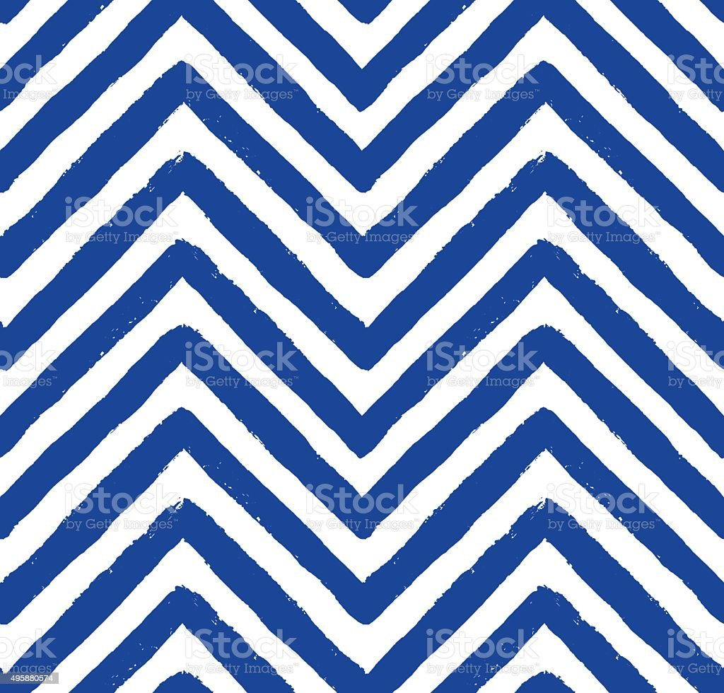 Vector Chevron Blue Seamless Pattern vector art illustration