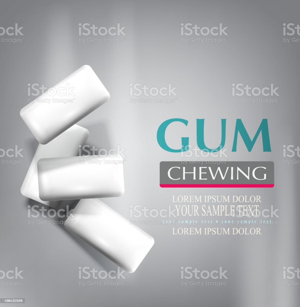 vector chewing gum isolated on a gray background vector art illustration