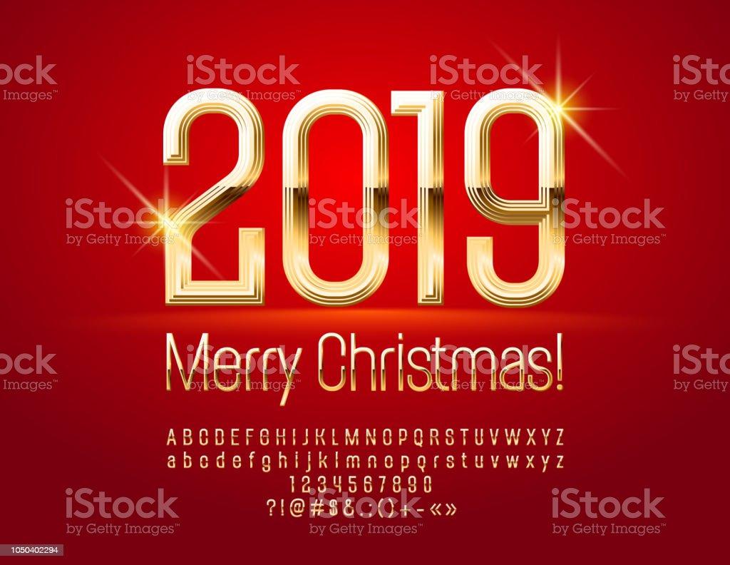 Image De Joyeux Noel 2019.Vector Chic Carte De Voeux Joyeux Noel 2019 Avec Alphabet
