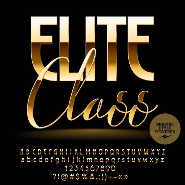 Vector chic label Elite class vector art illustration