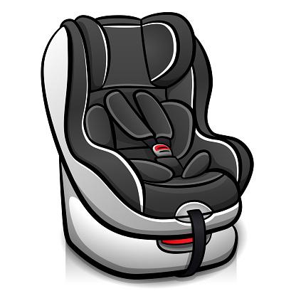 Vector child car seat design