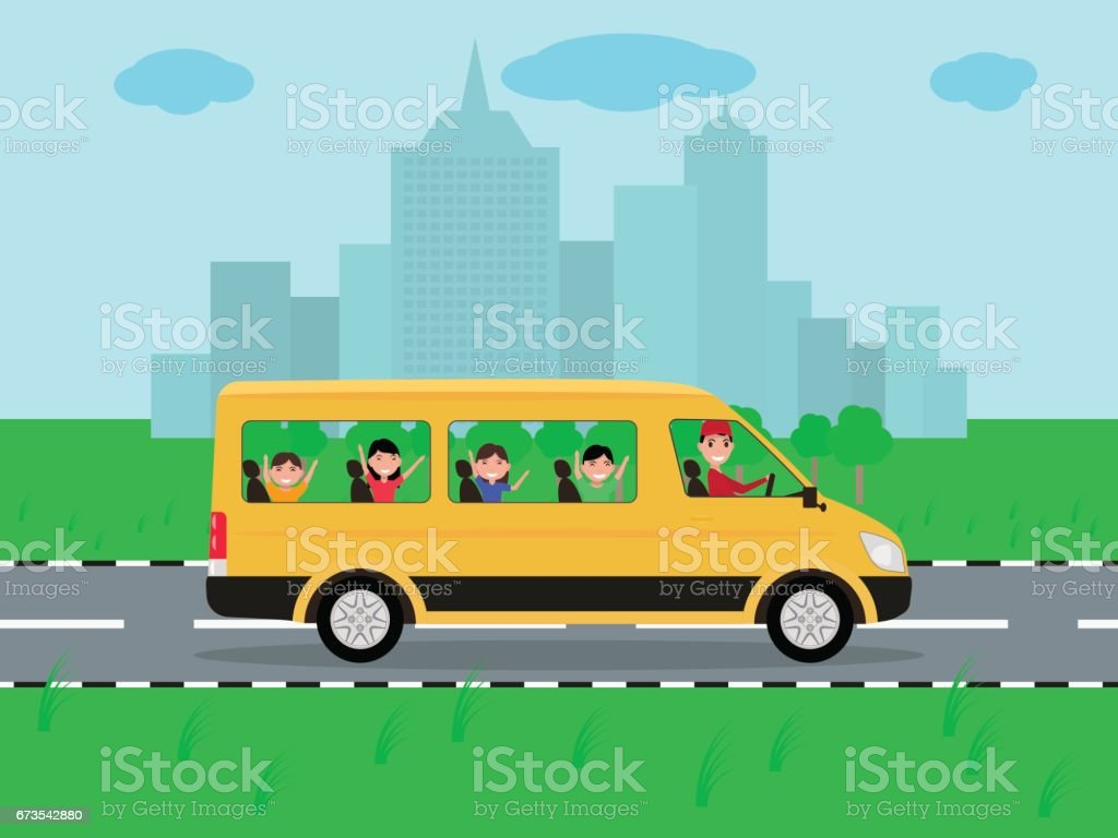 Vector children traveling by bus on travel royalty-free vector children traveling by bus on travel stock vector art & more images of adult