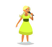 vector children's illustration of funny girl