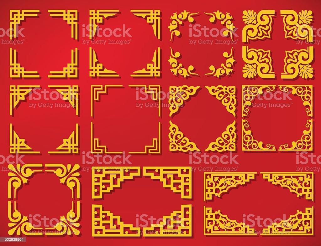 vector china new year frame vector art illustration