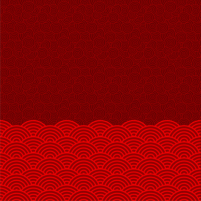 Vector Chinese Oriental traditional pattern background (Wave pattern )