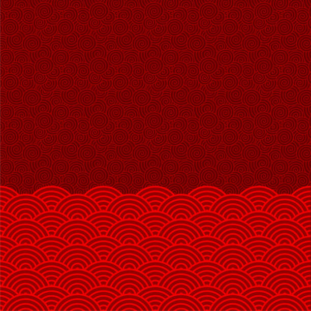 vektor chinesische orientalische traditionelle muster hintergrund (welle muster) - asien stock-grafiken, -clipart, -cartoons und -symbole