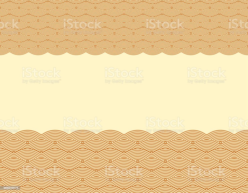 Vector Chinese traditional wave frame pattern background