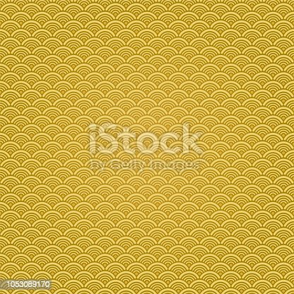 Vector Chinese traditional wave pattern background