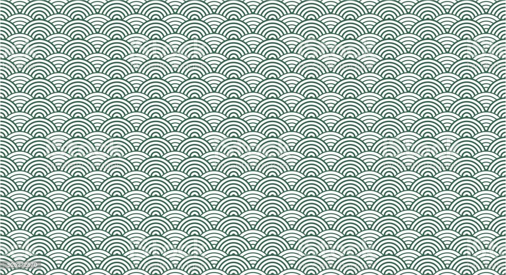 Vector Chinese traditional wave pattern background - Векторная графика Seigaiha роялти-фри