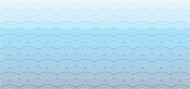 Vector Chinese traditional wave seamless pattern background