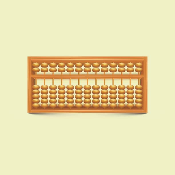 bildbanksillustrationer, clip art samt tecknat material och ikoner med vector kinesiska vintage abacus - abakus