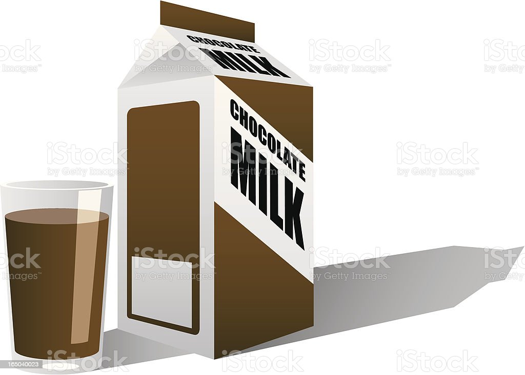 vector chocolate milk carton stock vector art more images of brown rh istockphoto com Milk Jug Clip Art Glass of Milk Clip Art