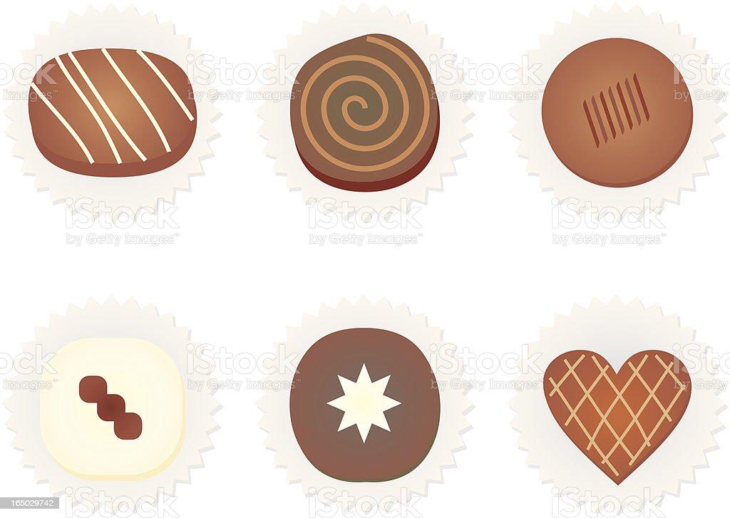 Vector Chocolates vector art illustration