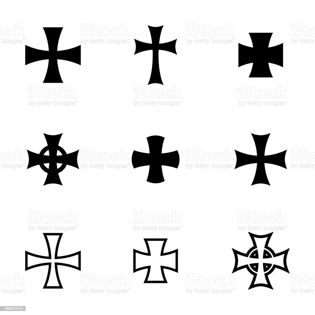 Vector choppers crosses vector art illustration