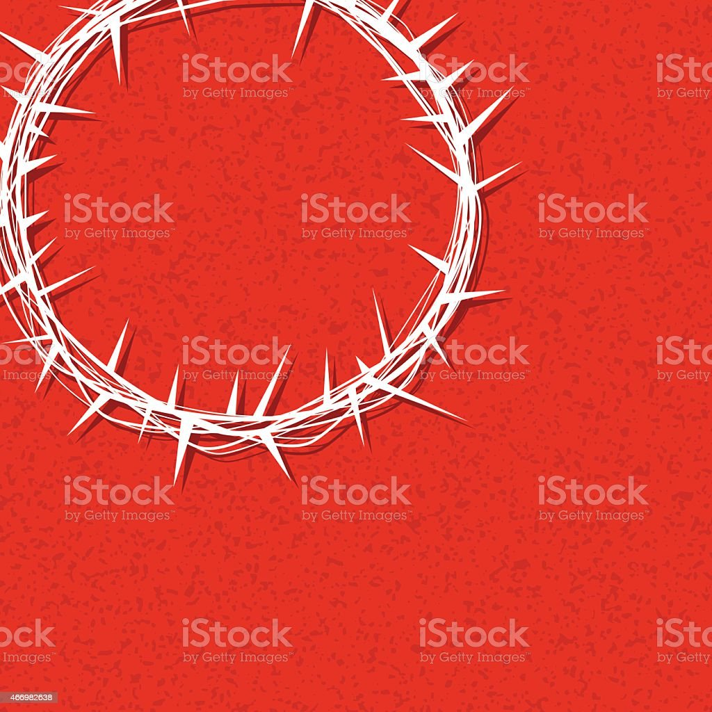 Vector Christ Crown of Thorns Illustration vector art illustration