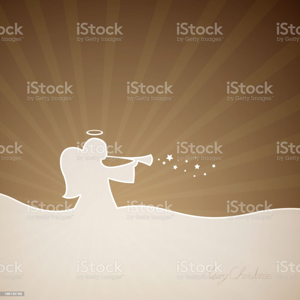 Vector Christmas Angel royalty-free stock vector art
