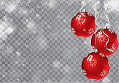 Vector Christmas Background. Transparent. Copy space.