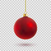 christmas ball, vector illustration