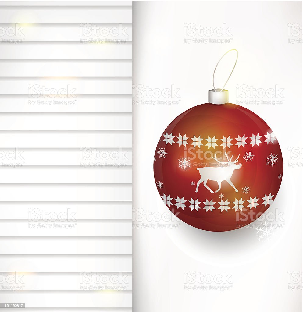Vector Christmas bauble background royalty-free stock vector art