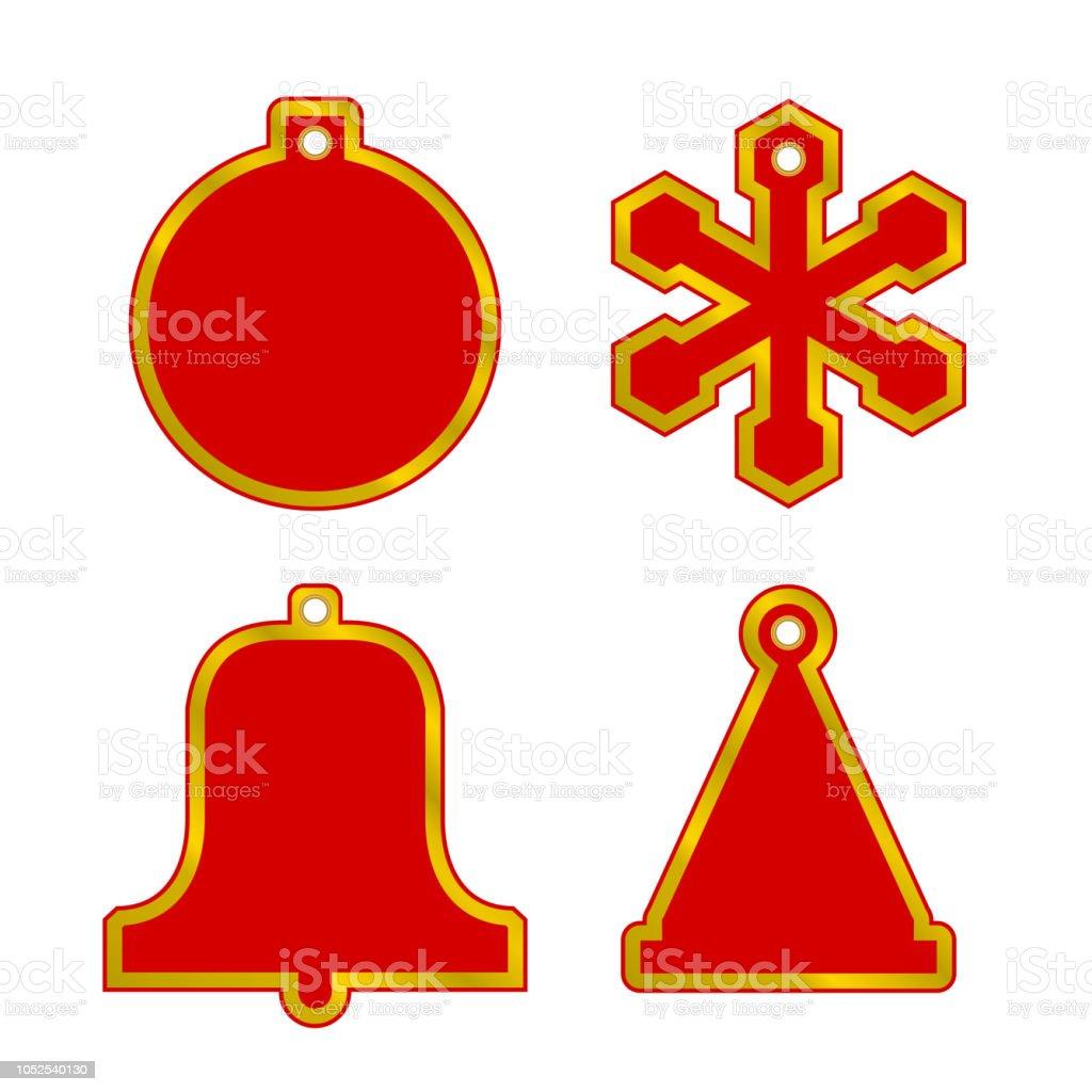 4e71072807d Ilustración de Vector Navidad Venta Rojo En Blanco Conjunto De ...