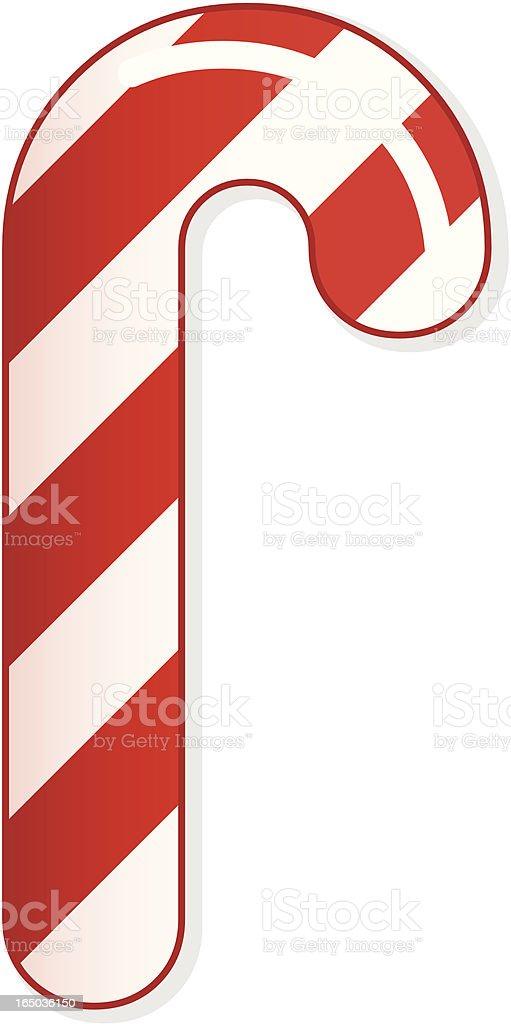 Vector Christmas Candy Cane royalty-free stock vector art