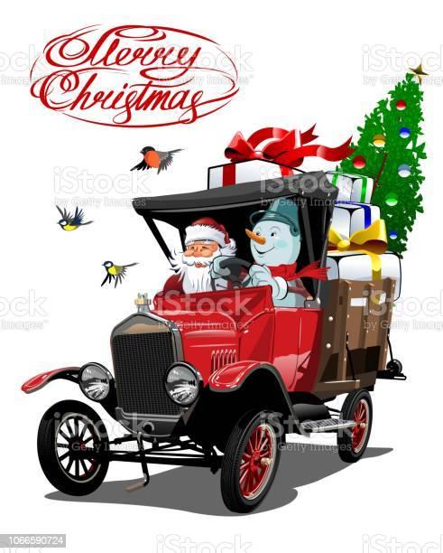 Vector christmas card with cartoon retro christmas truck vector id1066590724?b=1&k=6&m=1066590724&s=612x612&h=reupe0qungbyiauvxh4yvac0nirpll6hr putllnw3s=