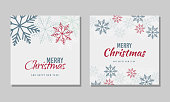 Vector Christmas card with snowflakes. And happy new year