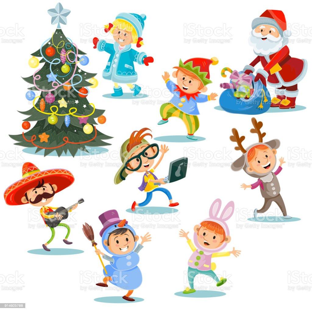 Ilustraci n de fiesta de carnaval de navidad vectoriales - Trajes de navidad para bebes ...