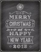 Vector Christmas Chalkboard Greeting Card