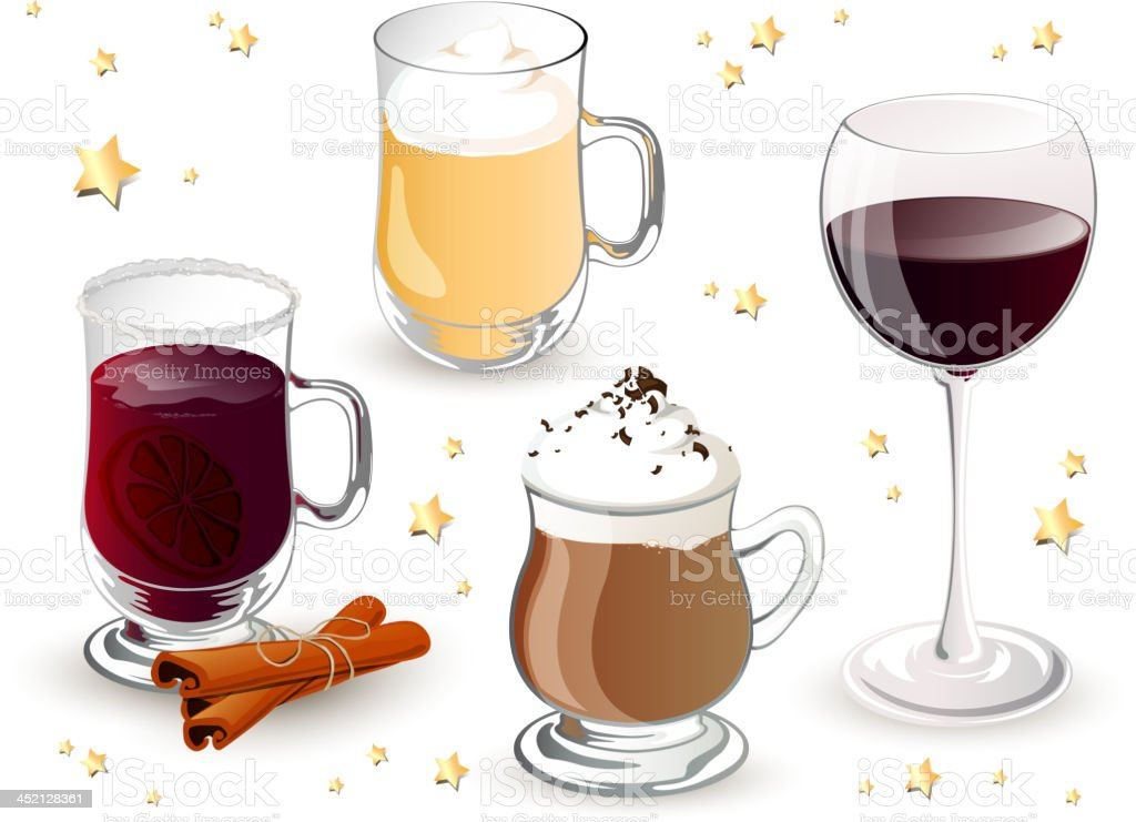Vector Christmas Drinks royalty-free stock vector art