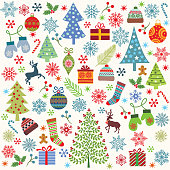 Vector Christmas elements .