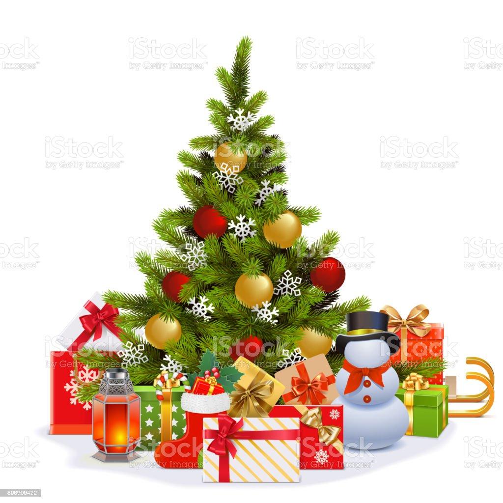 Tannenbaum Bilder.Vektor Weihnachten Tannenbaum Stock Vektor Art Und Mehr Bilder Von