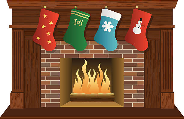 Top 60 Fireplace Mantle Clip Art Vector Graphics And Illustrations