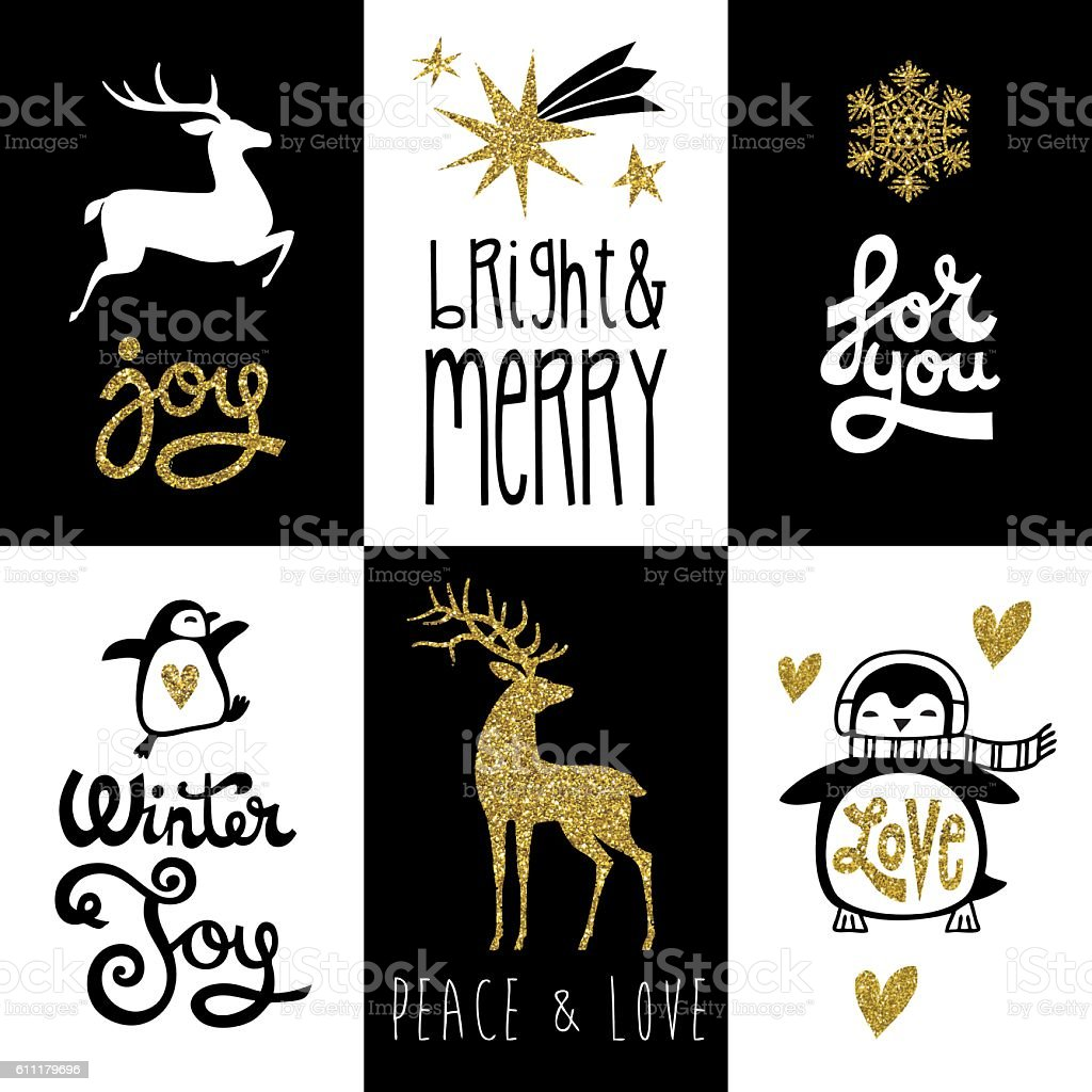 Vector Christmas gift tag collection. - Illustration vectorielle