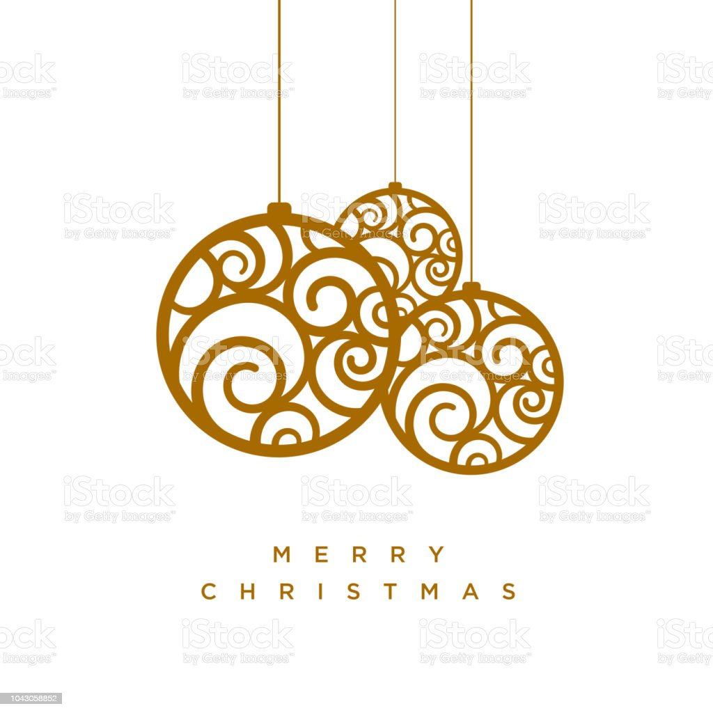 Vector Christmas Greeting Card Design Stock Vector Art More Images