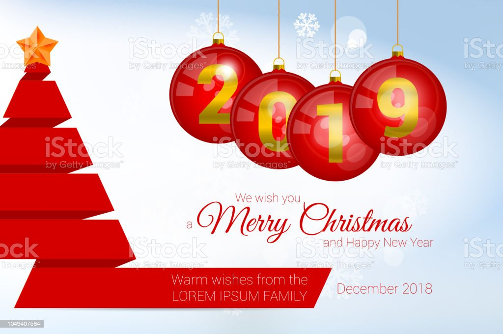 2019 vector christmas greeting card template merry christmas and happy new year design elements royalty