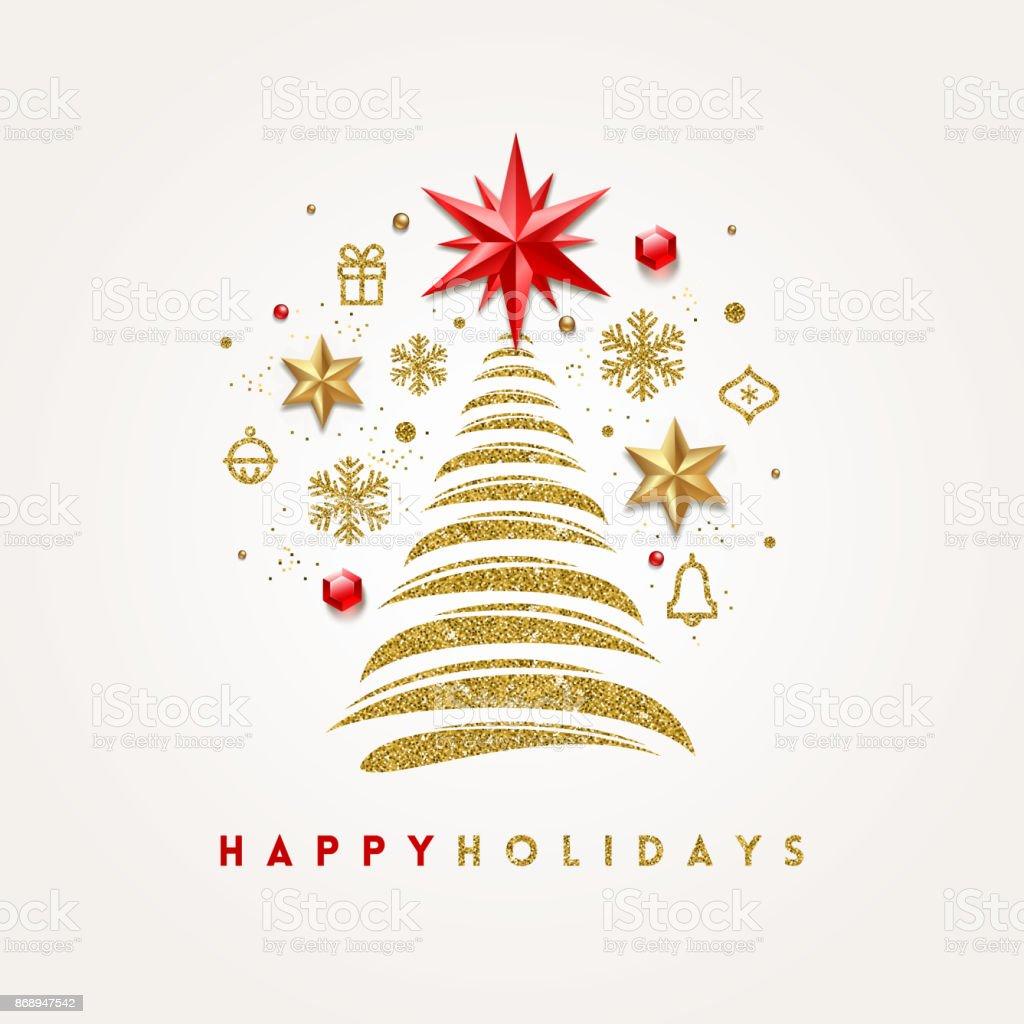 Vector Christmas greeting card. vector art illustration