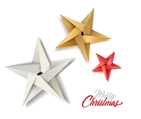 vector christmas holiday decoration stars