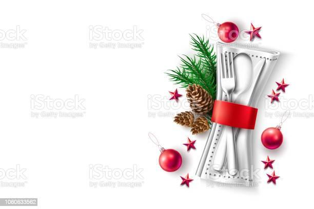 Vector Christmas Holiday Restauran Cafe Menu 3d - Immagini vettoriali stock e altre immagini di Albero
