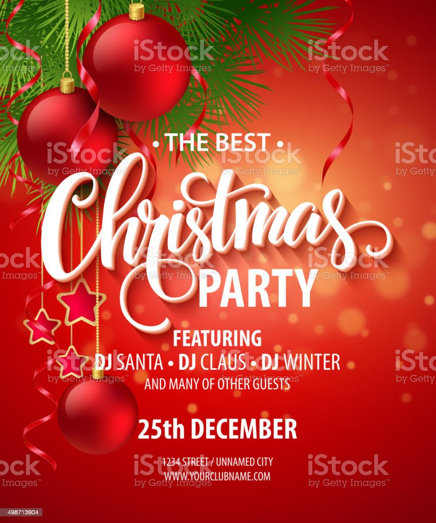 Vector Christmas Party design template. Vector illustration vector art illustration