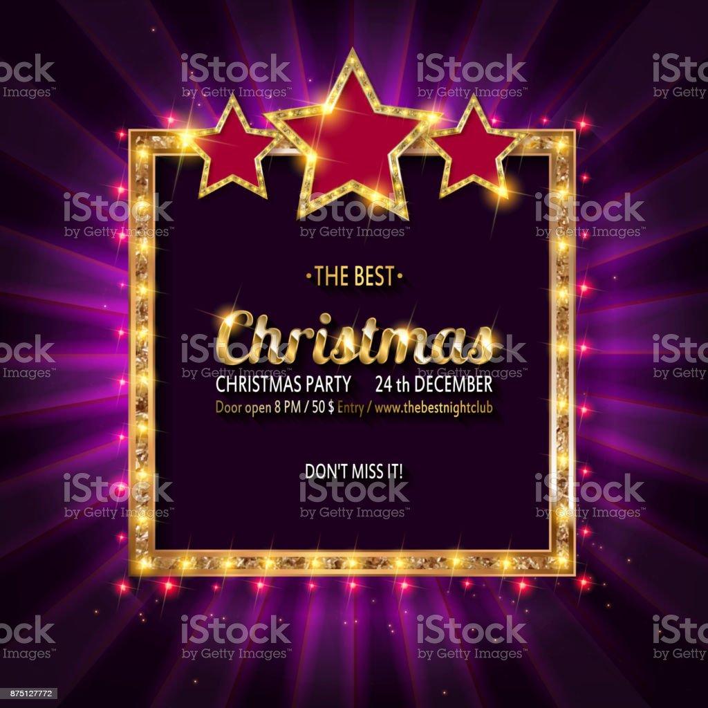 Invito alla festa di Natale vettoriale. - arte vettoriale royalty-free di Allegro