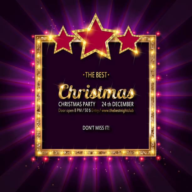 illustrazioni stock, clip art, cartoni animati e icone di tendenza di invito alla festa di natale vettoriale. - christmas movie