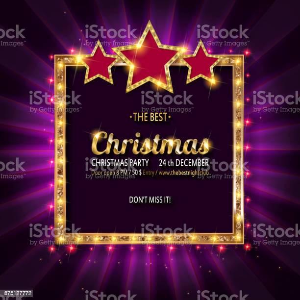 Invito Alla Festa Di Natale Vettoriale - Immagini vettoriali stock e altre immagini di Allegro