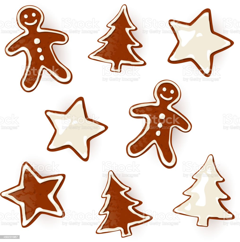 Vector Christmas Pastries royalty-free stock vector art