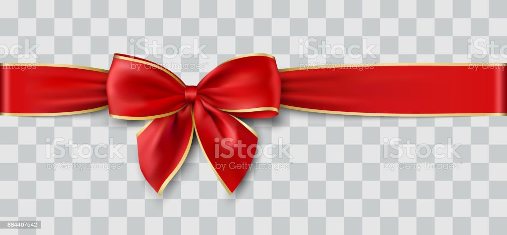 vector Christmas ribbon vector art illustration
