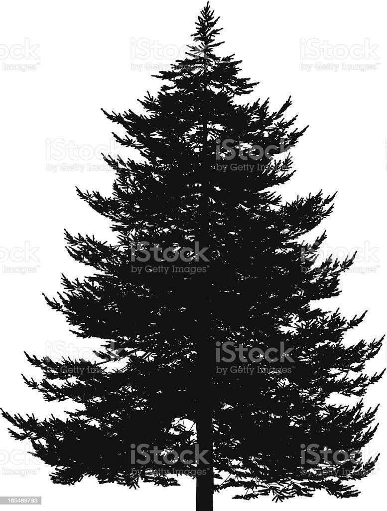 Vector Christmas Tree vector art illustration