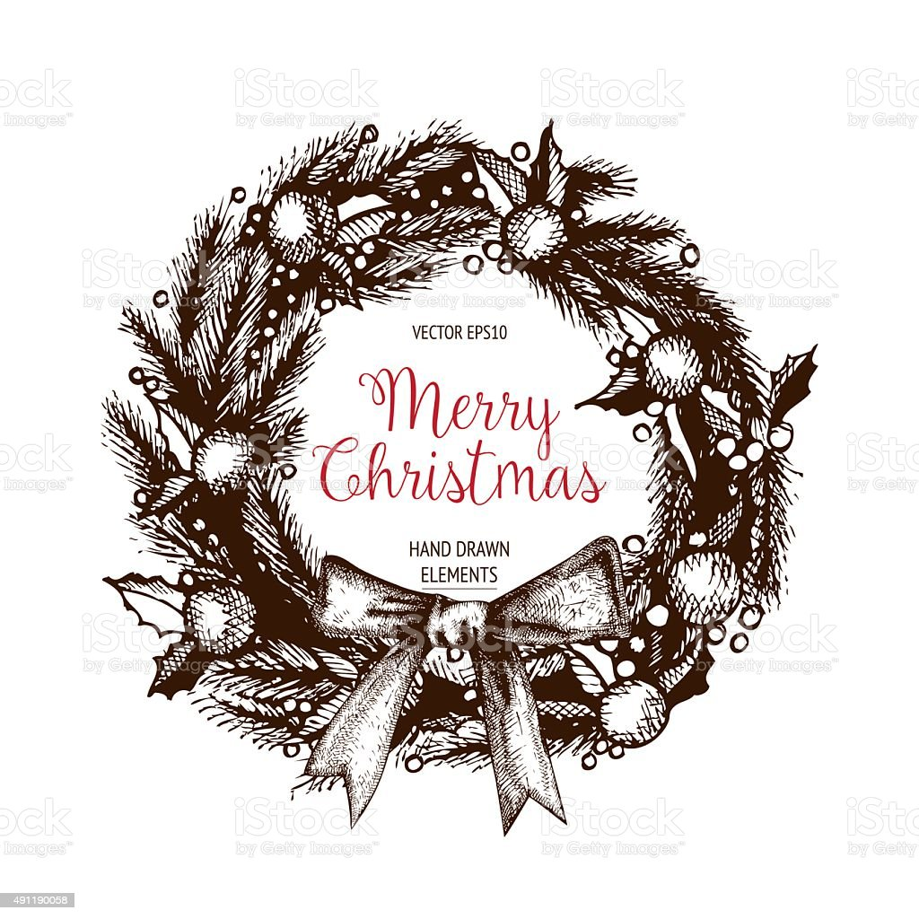 Vector Christmas Wreaths Stock Vector Art More Images Of