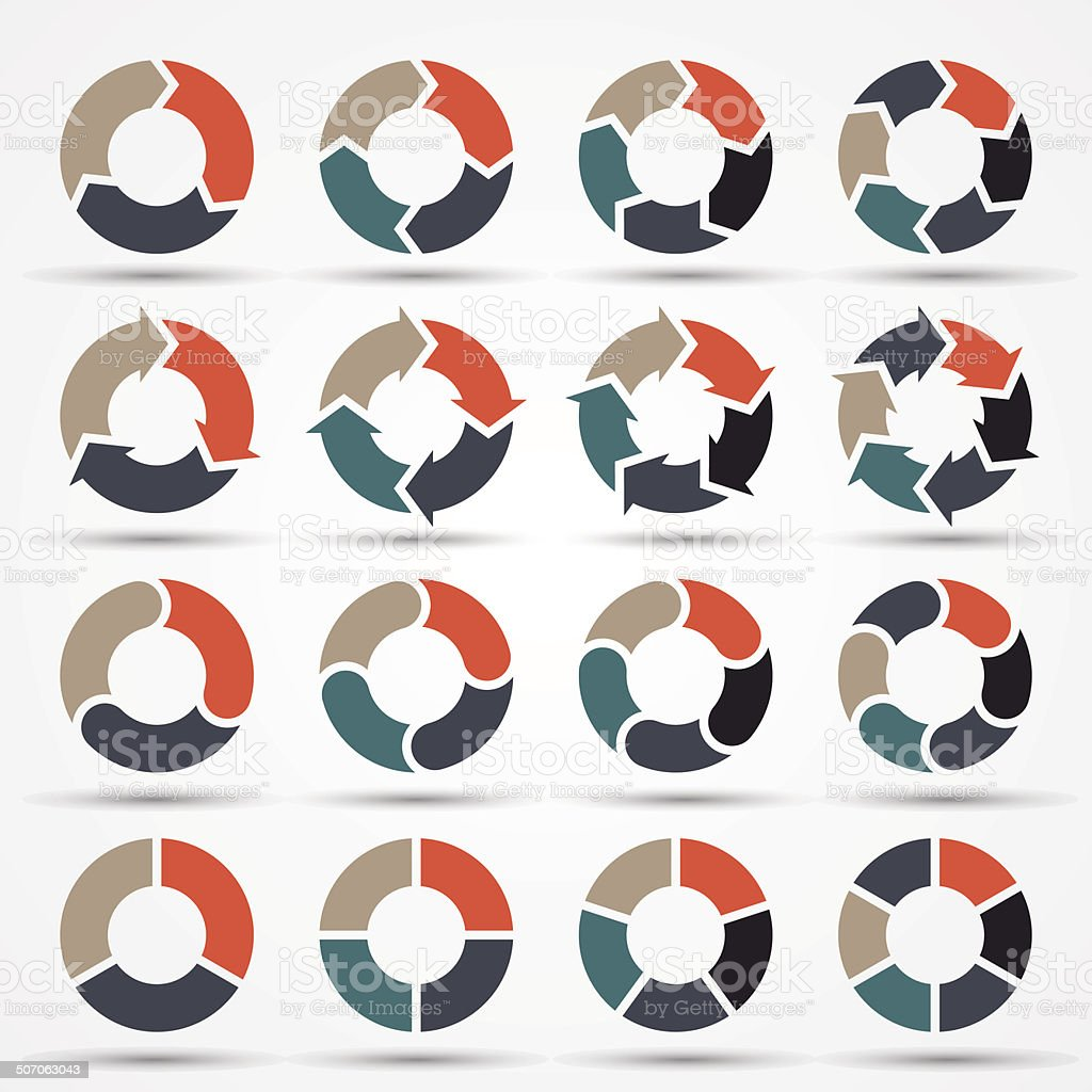 Vector circle arrows for business infographic, diagram, graph, chart. vector art illustration
