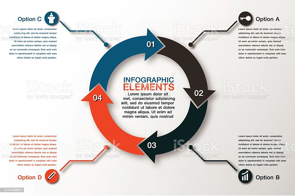 Ilustrao de vetor circle setas para infogrfico modelo de diagrama vetor circle setas para infogrfico modelo de diagrama de ciclismo ilustrao de vetor circle setas ccuart Images